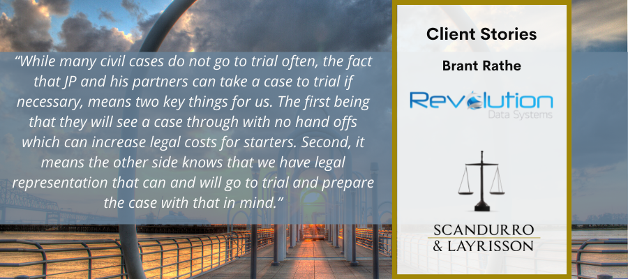 Scandurro & Layrrison Client Stories. Brant Rathe, Revolution Data Systems
